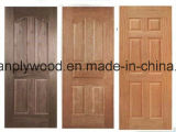 Panel de puerta de HDF verde/de la piel La piel de la puerta de MDF Moistureproof