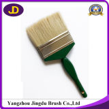 木のハンドルの白い剛毛の絵筆