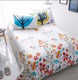 Hoja de base impresa de la cubierta del edredón del lecho del dormitorio del algodón