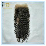 Hochwertiges brasilianisches Spitze-Stirnbein der Jungfrau-13*4 mit Vor-Zupfen Haar-Zeile und schnelle Anlieferung Lf-005
