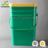 20 [ليتر] سطح بلاستيكيّة لأنّ دهانة وإستعمال كيميائيّة مع غطاء ومقبض