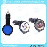 Двойной заряжатель автомобиля USB Port с Epoxy логосом (ZYF9105)