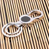 ブランドのロゴの卸し売りカスタム亜鉛合金の金属のキーホルダー