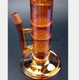 narguilé en verre de filtre de nid d'abeilles de Trois-Couche de pipe de la fumée 18.5-Inch