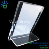 En acrylique transparent Double Sided Frameless Photo Stand