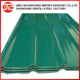Strato d'acciaio preverniciato ondulato del tetto di colore in Cina