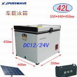 Purswave Bd / Bc-42 42L véhicule Réfrigérateur portable DC par compresseur pour camping 12V24V220V110V-25degree Alimenté par Solar par batterie