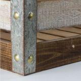 Bord métallique de protéger la Caisse à lattes de bois altéré Plyometric