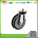 centro de nylon de la rueda de la PU del echador de la carretilla de 125m m (G142-06E125X34)