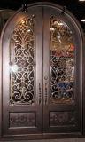 Квадратная верхняя внешняя стальная дверь входа утюга с стеклом