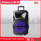 Shinco 15 Zoll bewegliche Partei DJ-drahtlose Karaoke-Laufkatze Bluetooth Lautsprecher-