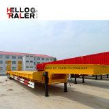 Сделано в Axle Китая Tri трейлер тележки кровати 60 тонн низкий Semi сделанный в Китае
