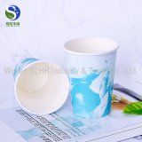 Il marchio su ordinazione a gettare ha stampato le tazze di carta isolate caffè caldo