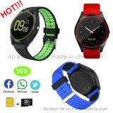 Telefoon van het Horloge van Bluetooth de Slimme met Camera en Antilost W9