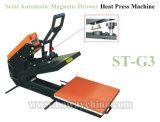 Macchina magnetica semi automatica della pressa di calore del panno dell'indumento della maglietta del cassetto