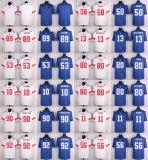 I bambini New York dei capretti delle donne del Mens incassa il junior Carson Cruz di Baro Beckham che equipaggia l'abitudine bianca blu del pullover di football americano del gioco in bianco tutto il nome qualunque numeri