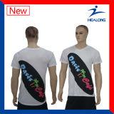 Цена Healong дешевое одевает изготовленный на заказ тенниску сублимации для людей