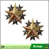 Distintivo militare della spalla della stella placcato oro