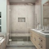 Concevoir la porte en fonction du client de douche d'écran de douche de Frameless pour la salle de bains 2018