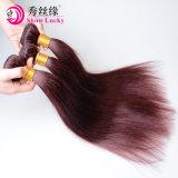 最上質の女性の100%年のブラジルの毛の拡張深い波の赤いカラーブラジルのバージンの人間の毛髪