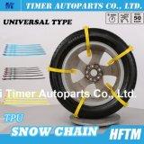Cadeias de pneu de emergência reutilizáveis de tipo universal Cadeias de neve