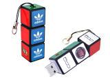 Unidades flash USB de plástico, itens promocionais 2GB / 4GB / 8GB / 16GB / 32GB, China Rubik Cube Memória flash USB para computador, Color Full Pasters