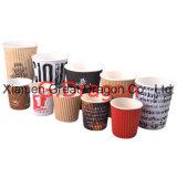 Tazze di carta della bevanda calda dalle 1.5-32 once con i coperchi (PC021)