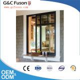 Revêtement en poudre populaire fenêtre en verre coulissants verticaux en aluminium