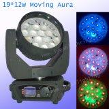 LED 단계 점화 기운 19PCS*12W 급상승 LED 세척 DJ는 점화한다