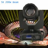 200W/230W 5r cabezal movible de haz de luz de escenario para la discoteca DJ Caso