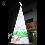 Indicatore luminoso di figura LED dell'albero di Natale della decorazione di festa alto