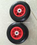 プラスチック縁が付いている空気の膨脹可能なゴム製車輪2.50-4