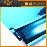 Пленка подкраской окна селитебного здания одностороннего зрения голубая декоративная