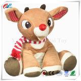 Animale della peluche della renna del giocattolo di natale