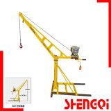 Utilisation de la construction d'excellentes performances 500kg grue de levage, la construction de bâtiments de hauteur