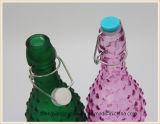 Frasco de vidro do armazenamento do suco do frasco de leite da amostra livre com o frasco de vidro da tampa