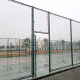 PE-проволочной сетки с покрытием для теннисный корт, звено цепи ограждения