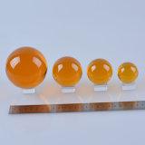 Colore dell'ambra della sfera della sfera di cristallo