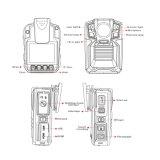 Gravador de aplicação da lei, 3900mahtwo Câmara policial da bateria, Night-Vision corpo da câmara a câmara sem fios