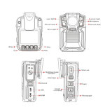 Gravador de aplicação da lei de IP de Vídeo de 3 MP68 Câmara do corpo de polícia do Veículo