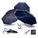 カスタマイズされた黒いコーティングのプラスチックハンドルの標準的でまっすぐなゴルフ傘