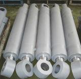 Cilindro ativo dobro do petróleo hidráulico com o pistão para o crescimento da máquina escavadora