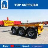 대륙간 탄도탄 차량 - 20 FT 40FT 트럭 트레일러에 있는 유압 기울이는 콘테이너 트레일러 골격 트레일러