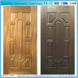 목제 베니어 또는 백색 프라이머 또는 멜라민 HDF 형에 의하여 박판으로 만들어지는 문 피부