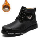 Nieve del invierno Botas de cuero de los hombres Martin Zapatos de seguridad (989)