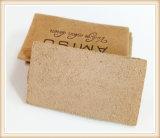 Etiquetas gravadas do couro do plutônio do vestuário para calças de brim