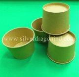 Tazón de fuente de papel sin procesar disponible biodegradable abonable de pulpa, categoría alimenticia, 500ml