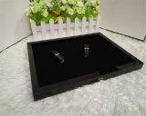 Black Acrylic Jewelry Box Desktop Armazenamento da bandeja do organizador de maquiagem