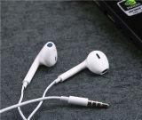 A6s en el teléfono estéreo atado con alambre oído del oído del receptor de cabeza del auricular para los teléfonos del IOS del iPhone