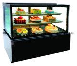 Refrigerador de cristal de la torta del estilo de Janpense de la calidad superior con Ce